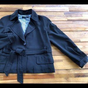 NINE WEST jacket trench coat size 14 Black